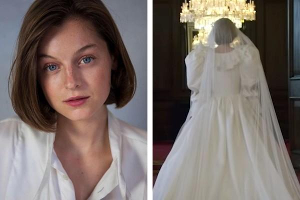 atriz deixou equipe de the crown sem palavras ao usar vestido de casamento da princesa diana monet series atriz deixou equipe de the crown sem