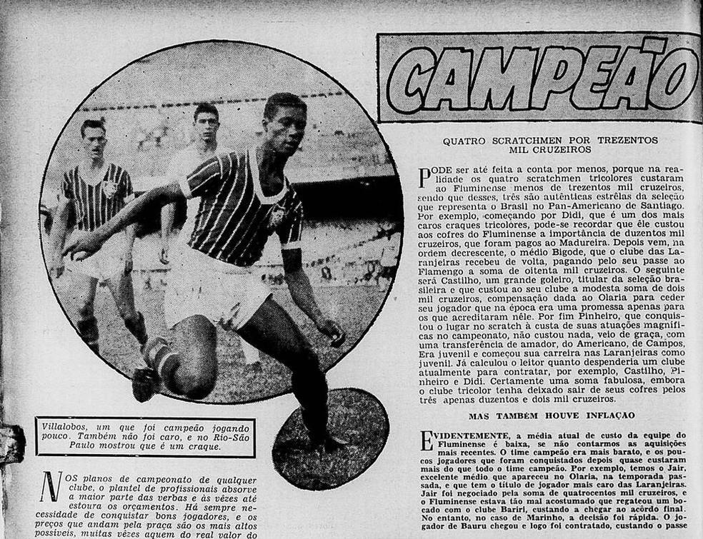 """De criticado a exaltado pela imprensa, Villalobos chegou a ser chamado de """"craque"""" — Foto: Reprodução / O Globo Sportivo"""