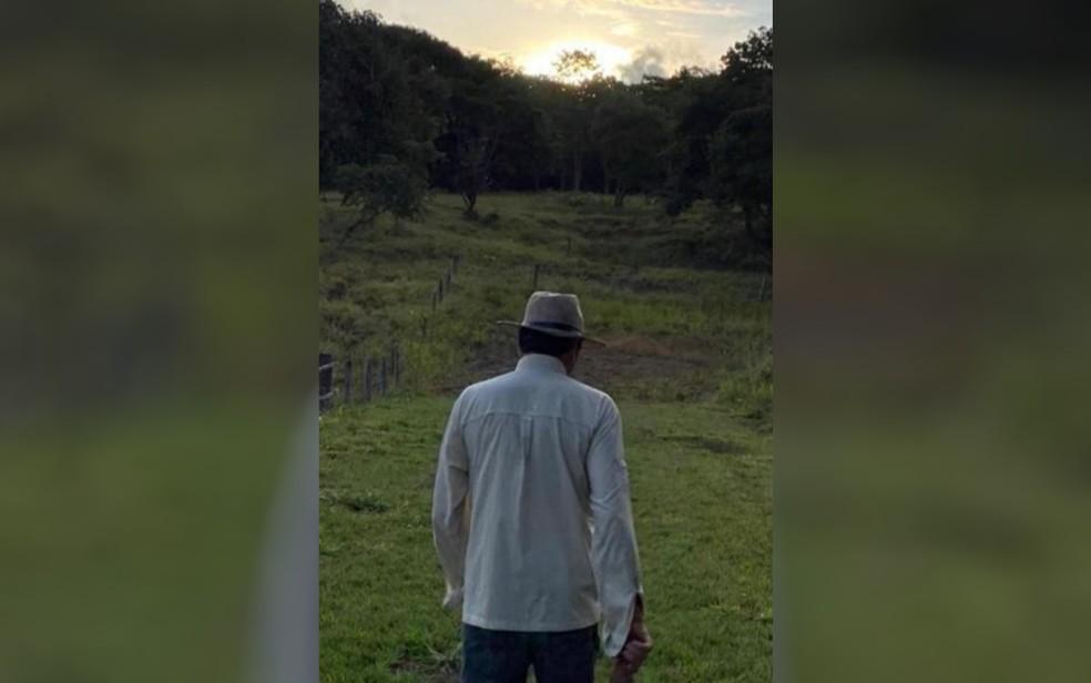 Filho de Maguito Vilela coloca foto do pai em perfil em rede social — Foto: Reprodução/TV Anhanguera
