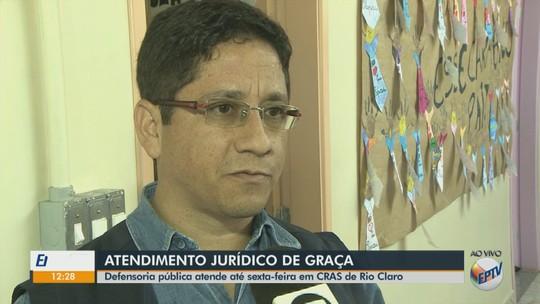 Defensoria Pública da União faz atendimento para a população de baixa renda em Rio Claro