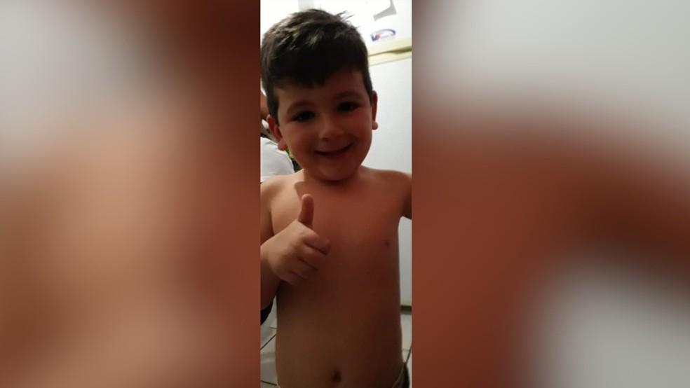 Menino João Victor tinha 5 anos de idade e foi morto envenenado em Natal — Foto: Reprodução/Inter TV Cabugi