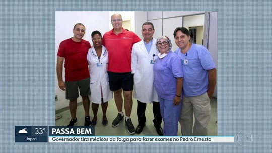 Witzel faz exames no Hospital Pedro Ernesto com médicos que estavam de folga