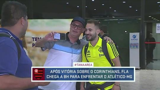Flamengo chega a Minas para enfrentar o Atlético-MG pelo Brasileirão