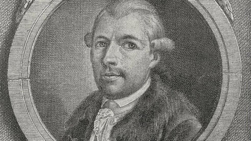 Johann Adam Weishaupt (1748-1830), filósofo alemão, fundador da Ordem da Sociedade Secreta dos Illuminati. — Foto: Getty Images via BBC