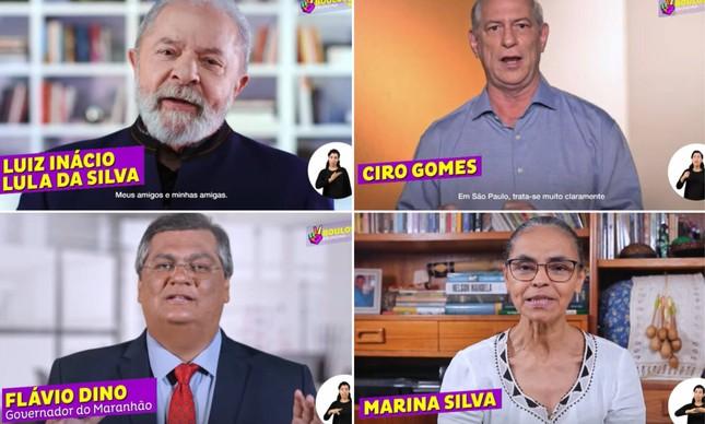 Lula, Ciro, Marina e Dino na campanha de Guilherme Boulos