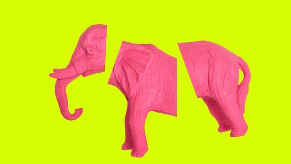 Tentar não pensar em um elefante rosa é garantia de pensar nele. O mesmo se aplica aos pensamentos obsessivos — Foto: Getty Images via BBC