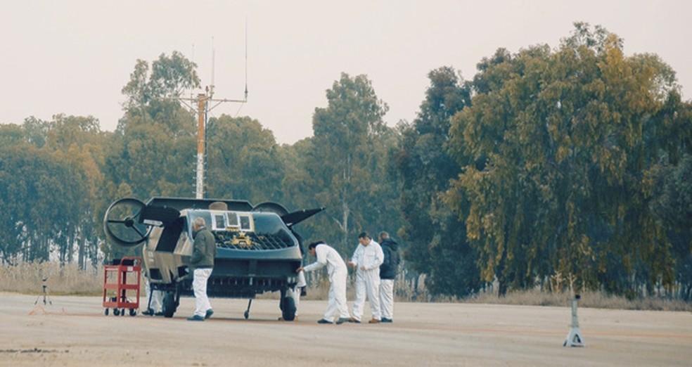 Carmorant em testes em Israel — Foto: Urban Aeronautics/Tactical Robotics via AP