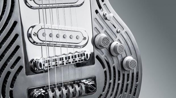 Detalhe da guitarra feita pela empresa sueca (Foto: Divulgação)