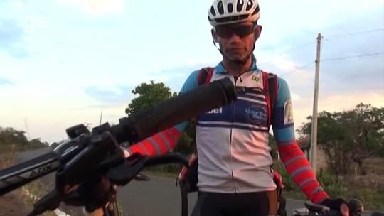 """Aos 46 anos, ciclista supera 2.600km de SP ao PI e narra drama em rodovias: """"Não respeitam"""""""