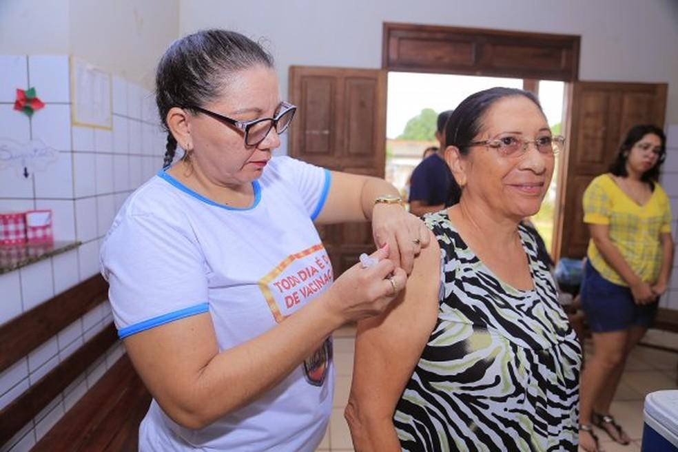 -  Vacinação contra a gripe em Santarém  Foto: Semsa/Divulgação