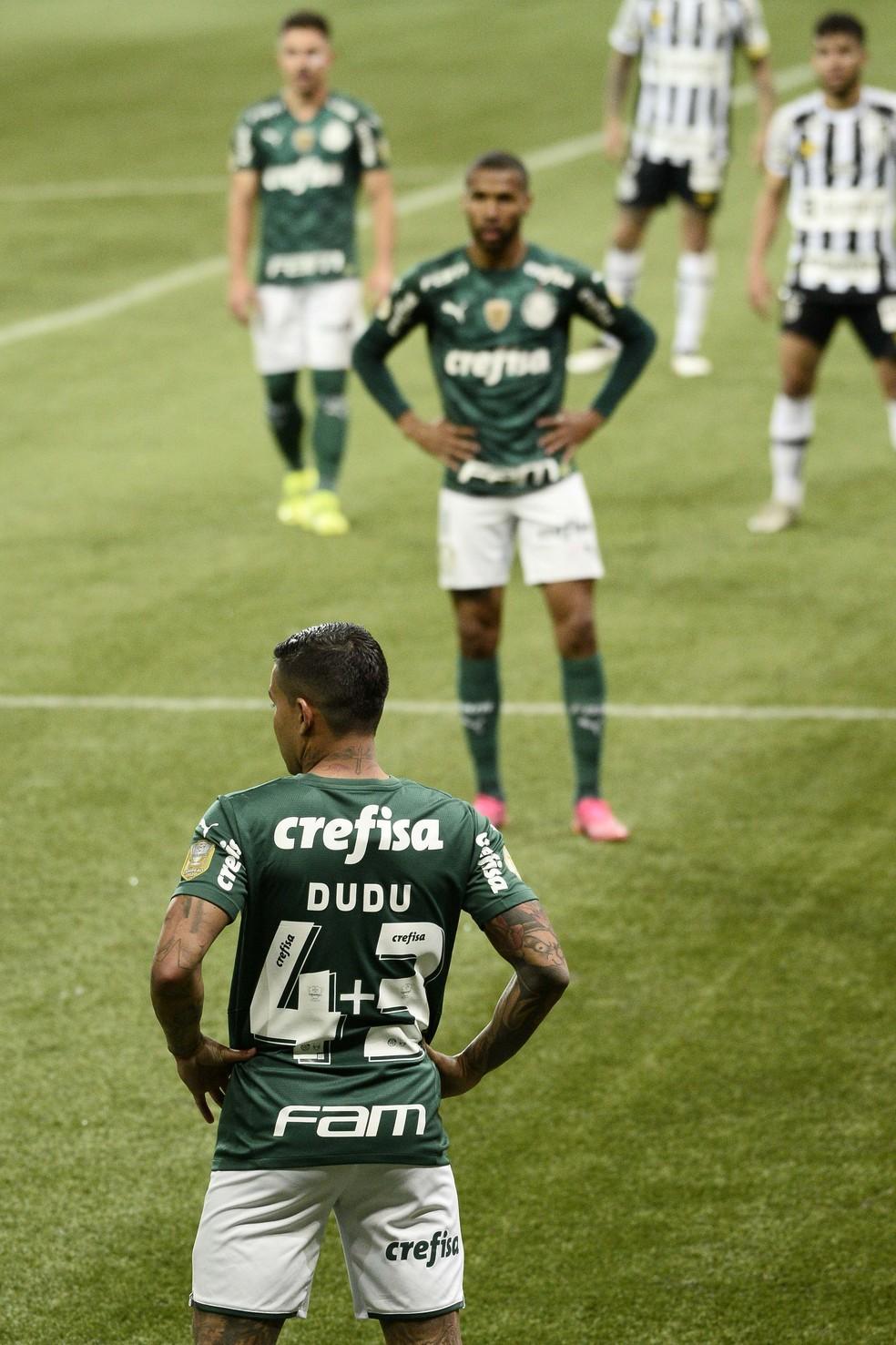 Dudu reestreia pelo Palmeiras — Foto: Marcos Ribolli