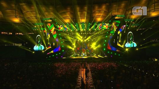 Veja os melhores momentos do show da banda Natiruts no Festival de Verão