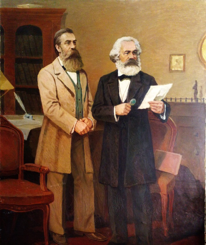 Os parceiros Engels e Marx (Foto: Reprodução)