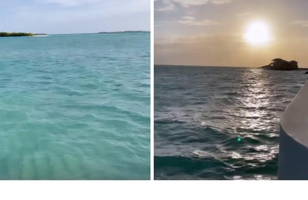 Pôr do sol fotografado pela filha de Xuxa (Foto: Reprodução)