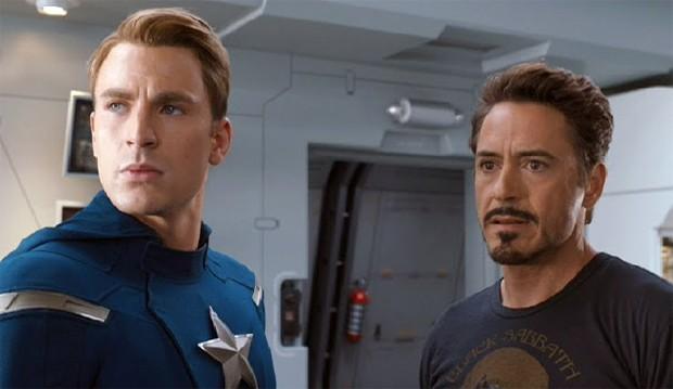 Chris Evans e Robert Downey Jr. (Foto: Reprodução)