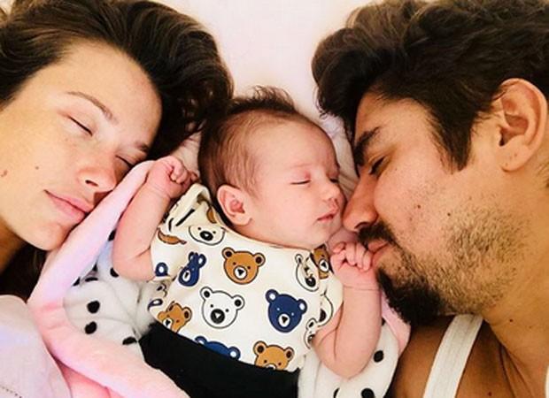 Juliana Didone com a filha e o marido (Foto: Reprodução)