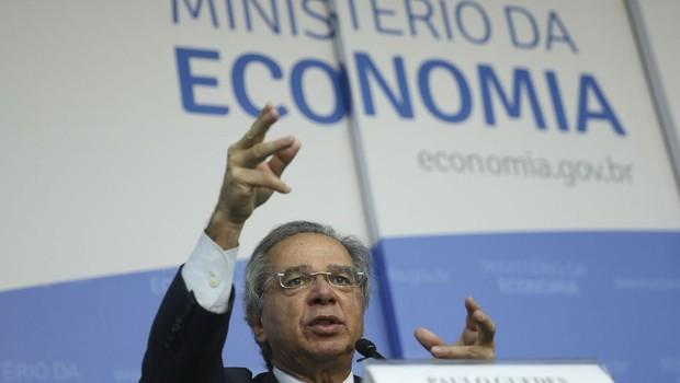 Paulo Guedes, ministro da Economia do governo Jair Bolsonaro (Foto: José Cruz/Agência Brasil)