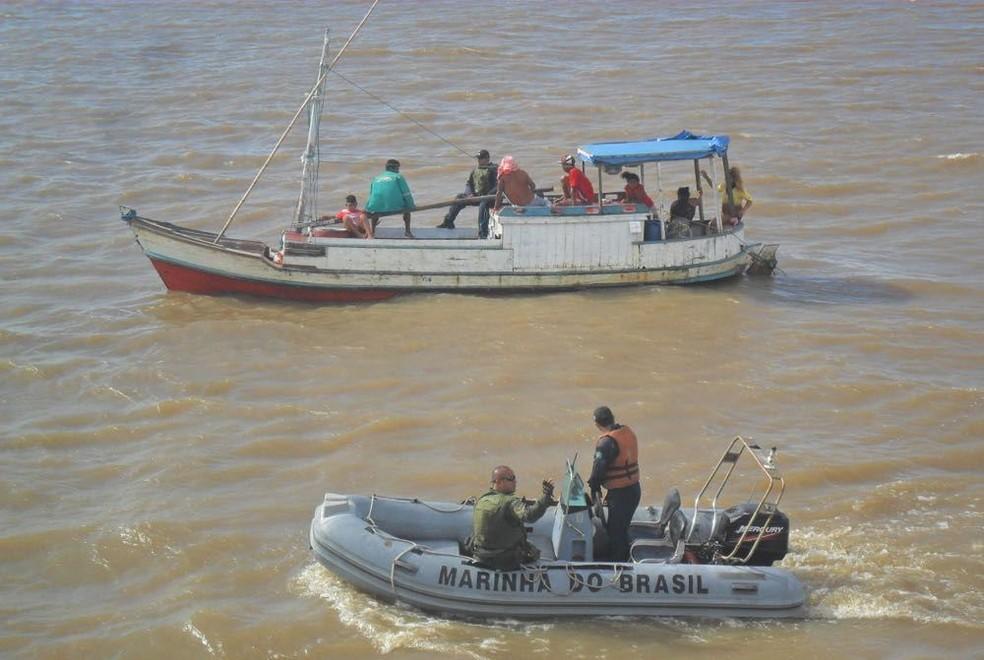 Embarcação estava irregular, aponta Capitania dos Portos. (Foto: Reprodução / Marinha do Brasil)