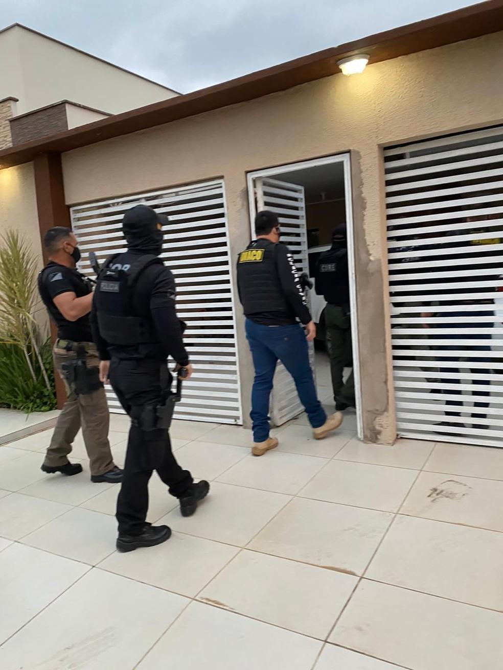 Operação Faces da liberdade cumpre mandados em Rio Branco — Foto: Polícia Civil/Divulgação