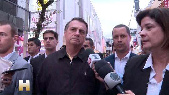 Jair Bolsonaro chega ao Japão e tenta evitar falar sobre a crise política no PSL
