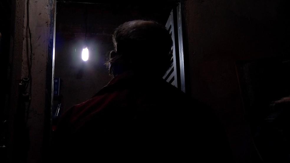 Idoso foi vítima de assalto nessa segunda-feira (18) em Tangará da Serra (Foto: TV Centro América)