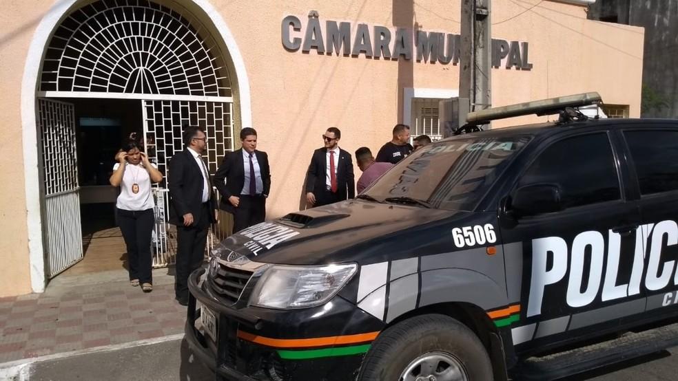 Ministério Público denuncia esquema criminoso que beneficiou prefeito eleito — Foto: MPCE/Divulgação