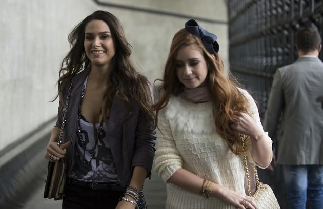 Leila (Fernanda Machado) se aproximou da frágil Nicole (Marina Ruy Barbosa), em 'Amor à vida' (2013), para tentar dar um golpe e roubar sua fortuna (Foto: Bob Paulino/TV Globo)