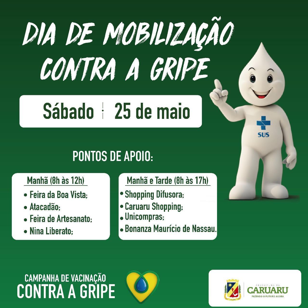 Dia de Mobilização contra gripe é realizado em Caruaru