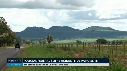 Homem fica ferido após acidente com parapente em Terra Rica, no noroeste do Paraná