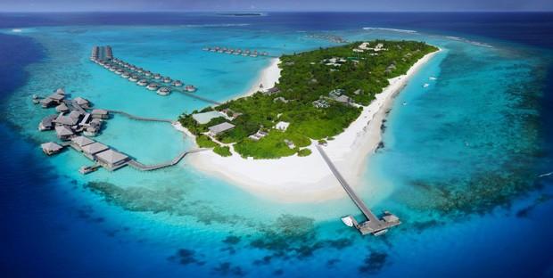 O resort de luxo Six Senses Laamu, nas Ilhas Maldivas (Foto: Divulgação)