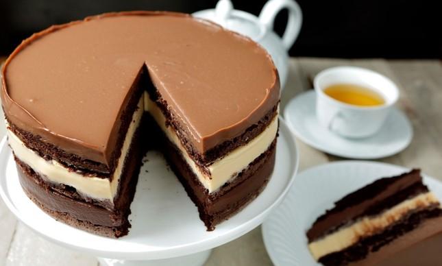 Torta com três chocolates da MP Tortas Boutique