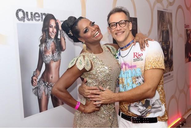 Adriana Bombom e o noivo (Foto: Daniel Janssens/Ed Globo)