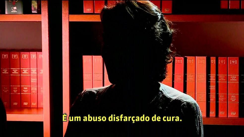 Vítima de São Paulo relata ter sofrido abuso sexual de João de Deus — Foto: GloboNews/Reprodução