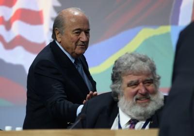 Chuck Blazer e Joseph Blatter (Foto: Getty)