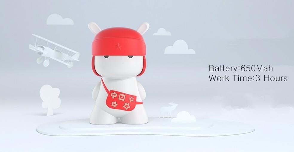 Caixa de som Bluetooth da mascote da Xiaomi, o coelho Mitu — Foto: Divulgação/Xiaomi