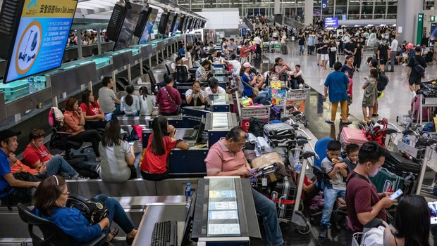 Aeroporto de Hong Kong  (Foto: GETTY IMAGES )