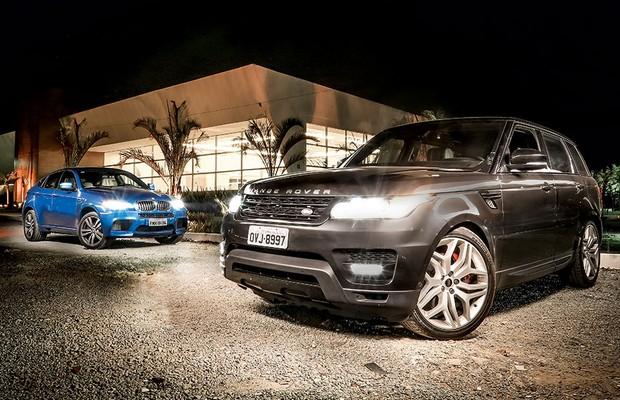 Bmw X6 M E Land Rover Range Rover Sport Fazem Rolezinho De