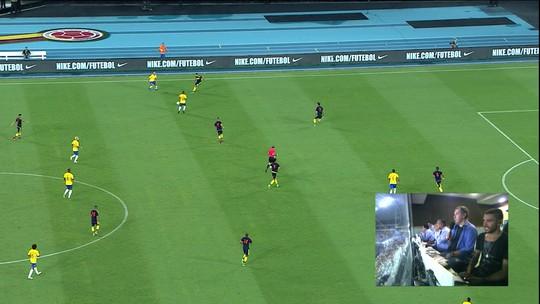 Junto com Galvão Bueno, Rafael Henzel narra jogo entre Brasil e Colômbia