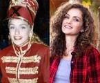 Gisele Delaia na época de paquita e atualmente | TV Globo - Kelly Kope