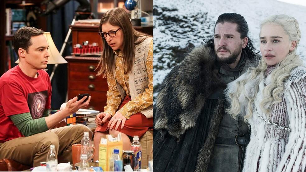 'The Big Bang Theory' e 'Game Of Thrones' terminam na mesma semana e deixam fãs 'órfãos' — Foto: Divulgação