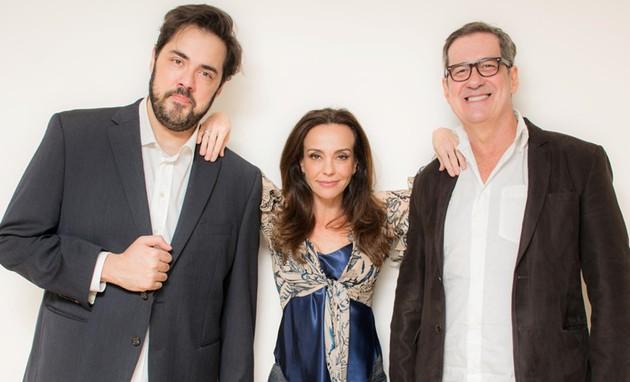 Fernando Ceylão, Flávia Monteiro e João Camargo (Foto: Tiago Xavier)