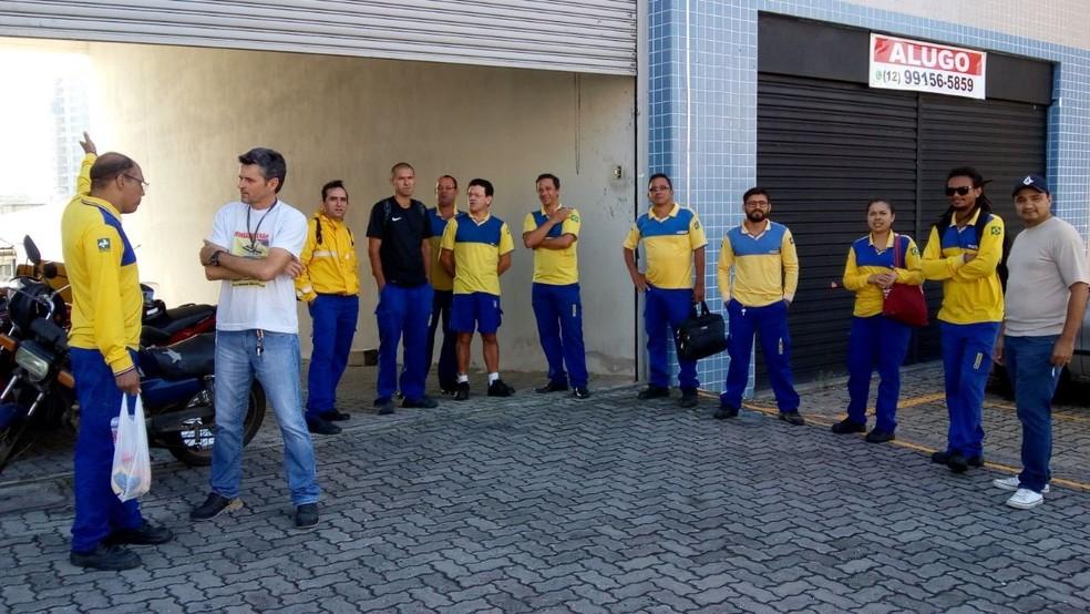 Correios fazem paralisação no Vale do Paraíba, em SP  (Foto: Divulgação/Sindicato dos Trabalhadores nos Correios do Vale do Paraíba)