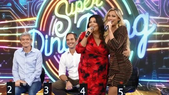 Fabiana Karla e Ellen Rocche comemoram vitória no 'Super Ding Dong'
