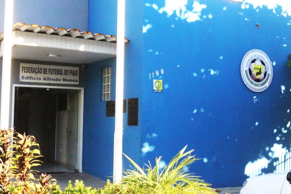 Federação de Futebol do Piauí — Foto: Stephanie Pacheco / GloboEsporte.com
