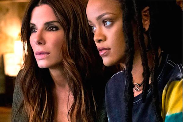 Sandra Bullock e Rihanna em cena de Oito Mulheres e Um Segredo (2018) (Foto: Reprodução)