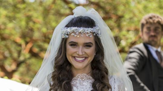 Exclusivo: veja foto de Marocas de noiva para o casamento com Samuca em 'O Tempo Não Para'