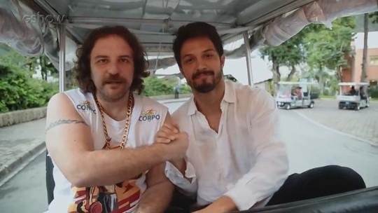 Julinho pede papel em novela para Romulo Estrela: 'Se tiver que fazer nudez, eu faço'