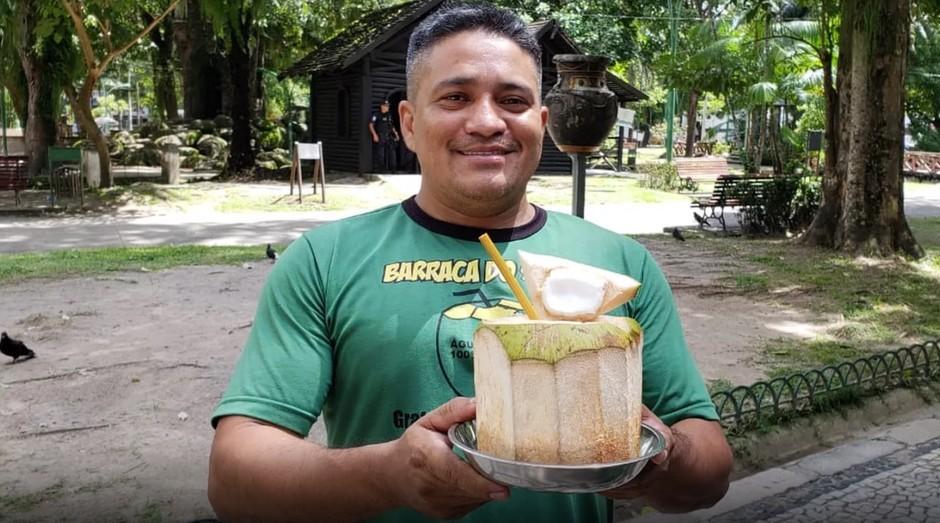 Said Trindade inventou canudinho de bambu (Foto: Reprodução/TV Liberal)