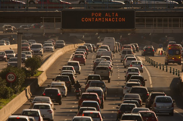 Madri restringirá circulação de carros se poluição piorar (Foto: Denis Doyle/Getty Images News)