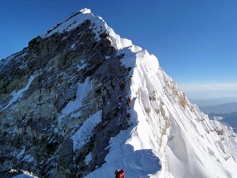Visão do cume do Everest (Foto: Wikimedia Commons)